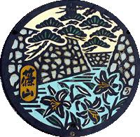 篠山のマンホール